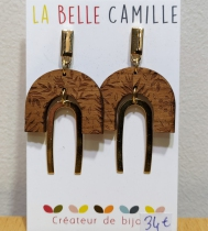 Boucles d\'oreilles très originales Ida or La Belle Camille
