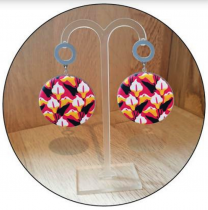 Boucles d\'oreilles Yaya Factory support 38mm
