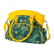 Yellow clothes, bags, scarves, and jewels