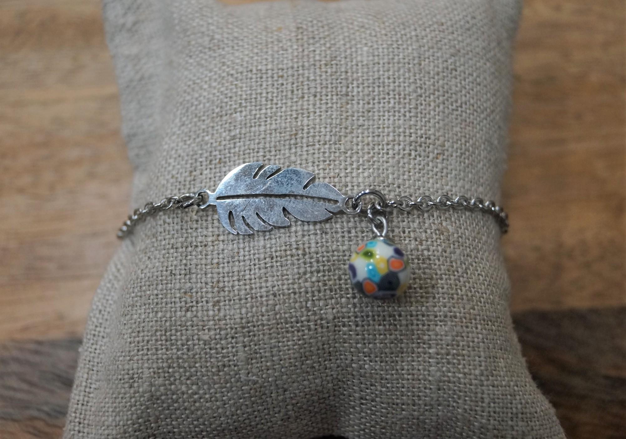 Bracelet argent perle multicolore Elmalao