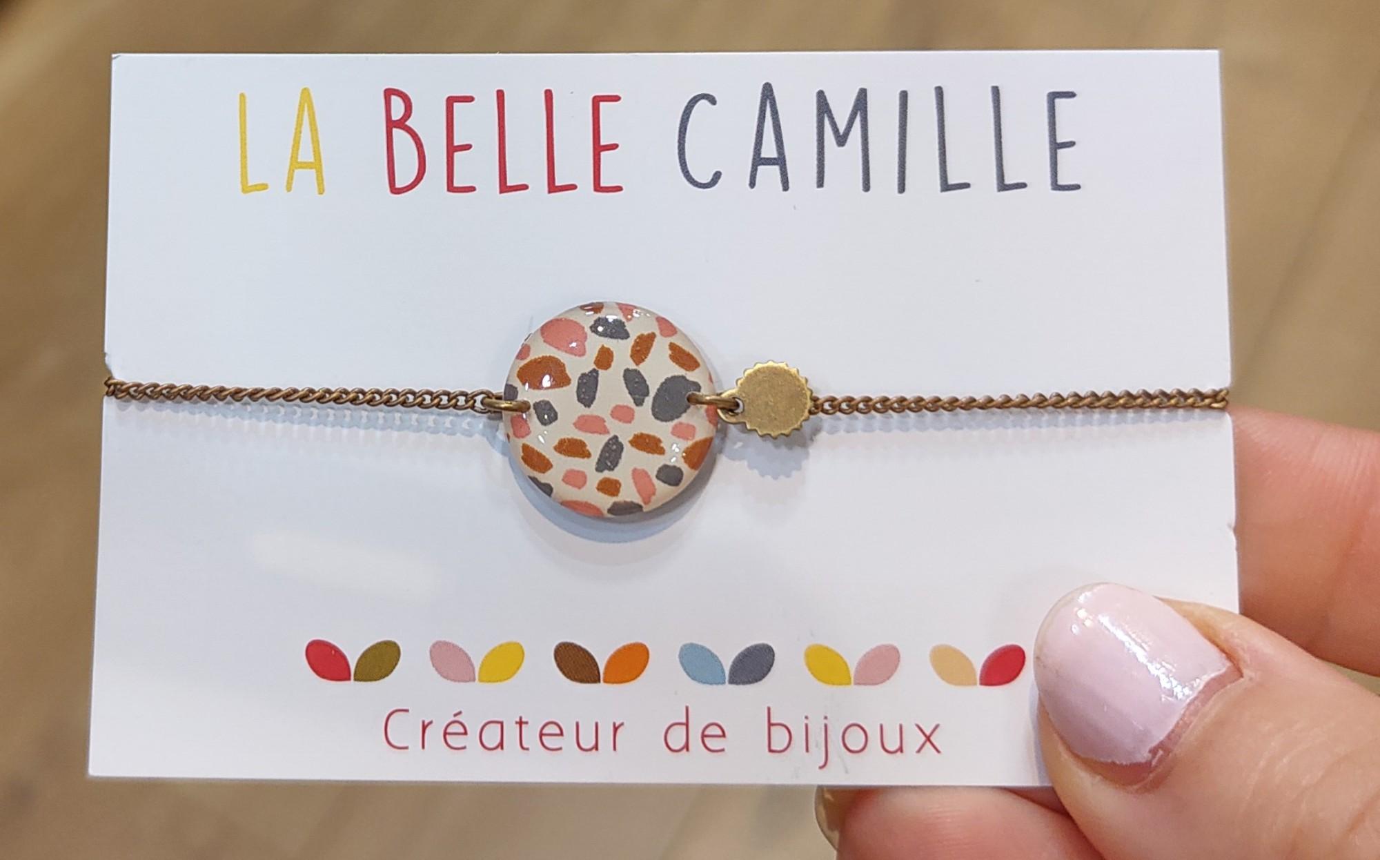 Bracelet chainette femme motif résiné La Belle Camille