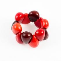 Bracelet élastique trois couleurs Nodova, Lagrima rouge