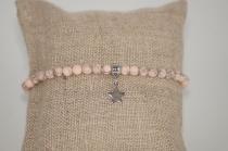 Bracelet en pierres naturelles roses Elmalao