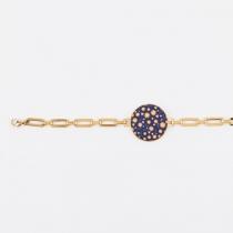 Bracelet femme à chaine dorée, support 25 mm Yaya Factory