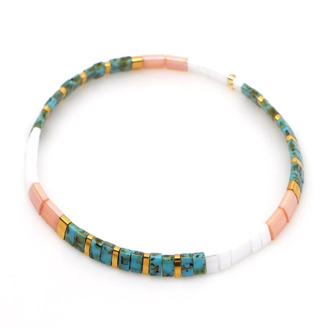 Bracelet femme élastiqué en perle Miyuki INKA Sejj