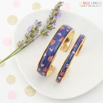 Bracelet femme résiné brillant La Belle Camille Manchette large