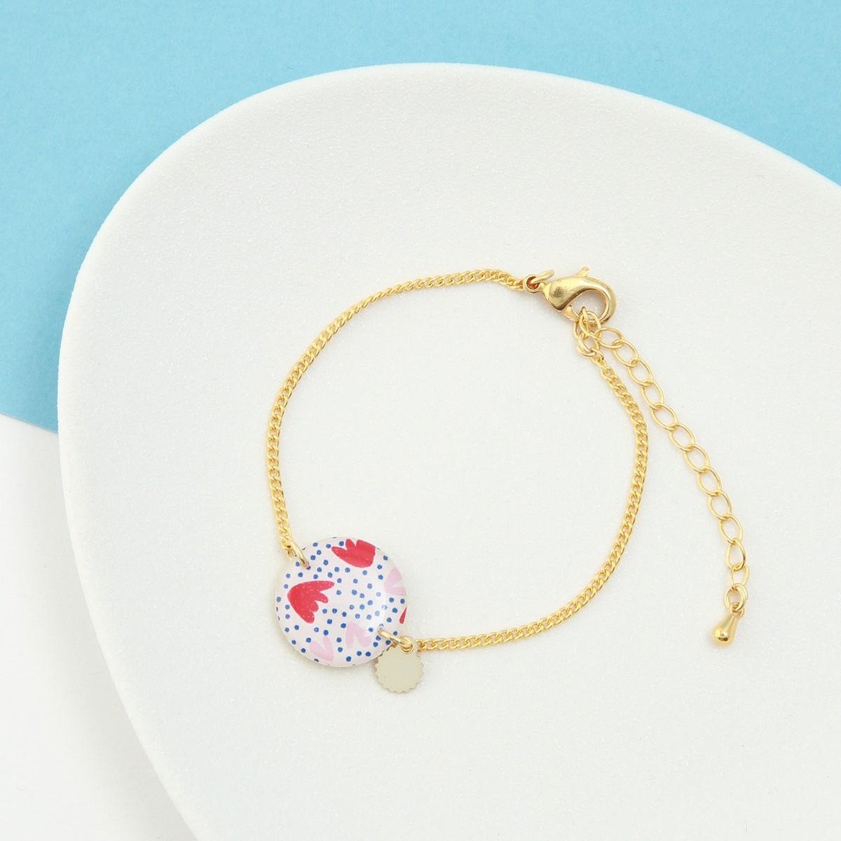 Bracelet femme résiné La Belle Camille Bracelet Nina or