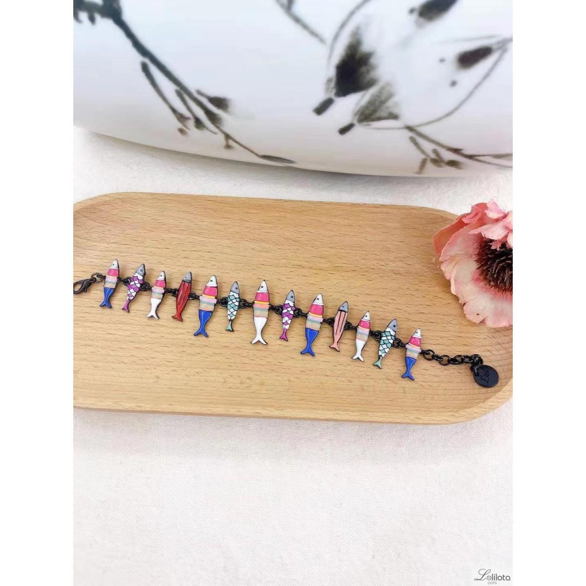 Bracelet Lol Bijoux, sardines multicolores