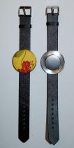 Bracelet montre noir support 38 mm Yaya Factory
