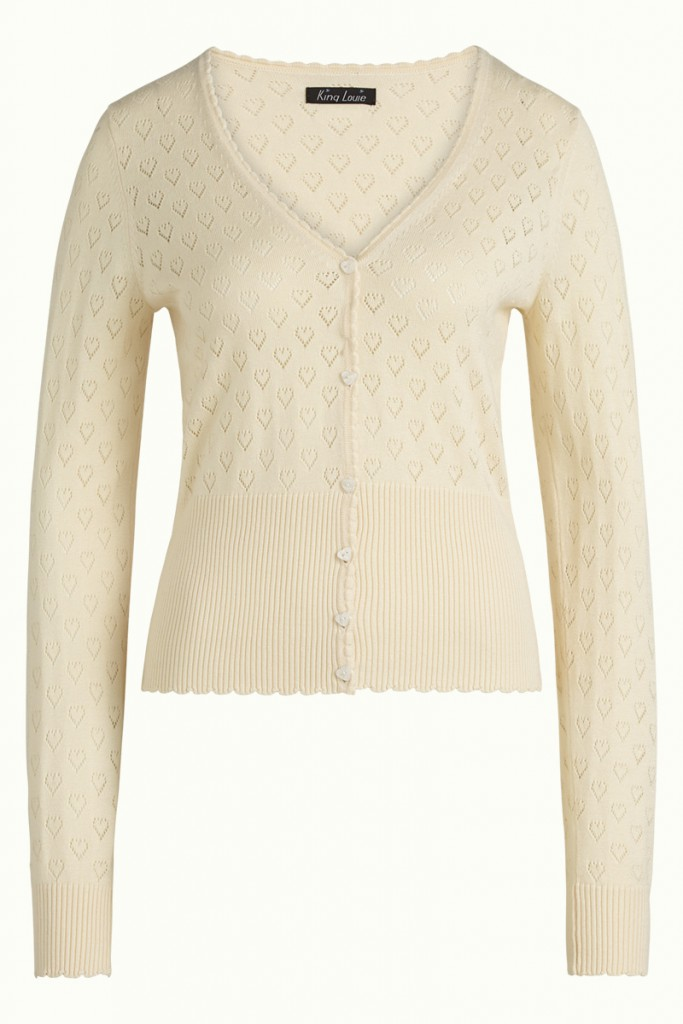 Cardigan ajouré beige King Louie