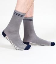 Chaussettes homme écologiques, grises et blanches