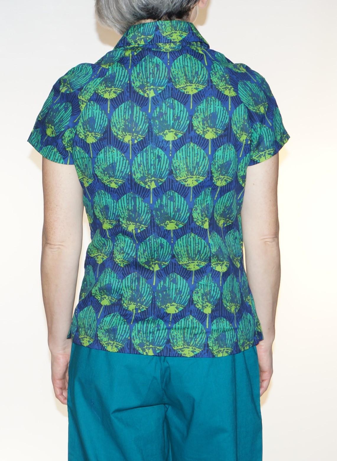 Chemise femme bleu et verte Kali Yog Boni