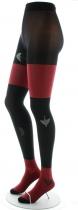 Collant fantaisie fin noir ondulation rouge Berthe aux grands pieds