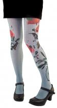 Collants colorés Lili Gambettes, thème Colibri gris