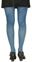Collants décalés Camélia fond bleus Lili Gambettes