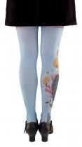 Collants fantaisie bleus Lili Gambettes, thème Baleine