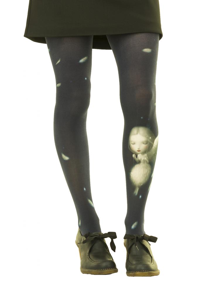 Collants fantaisie imprimés ange Liligambettes