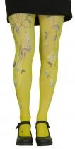 Collants fantaisie imprimés Clochette jaunes Lili Gambettes