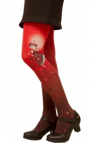 Collants imprimées Folk rouge Lili Gambettes