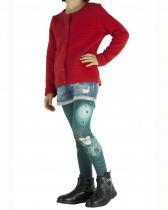 Collants imprimés enfant « O » bleus Lili Gambettes