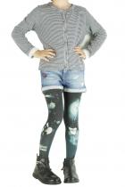 Collants imprimés enfant « O » noirs Lili Gambettes