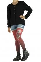 Collants imprimés enfant Folk rouge Lili Gambettes
