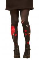 Collants imprimés Fleur rouge Lili Gambettes