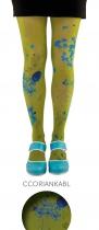 Collants kaki et bleus Coriandre Lili Gambettes