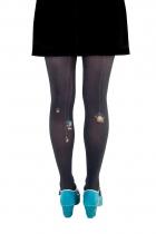 Collants noirs imprimés Lili Gambettes, thème Pas sorcier