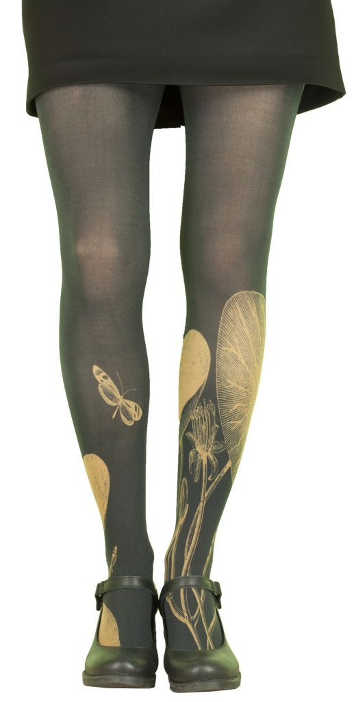 Collants opaques Nénuphars noirs Lili Gambettes