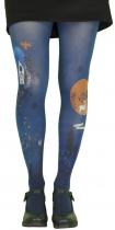 Collants originaux à motifs Coucou bleus Lili Gambettes