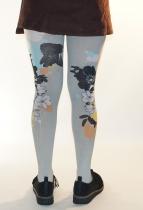 Collants originaux imprimés Grey thème Koï Lili Gambettes