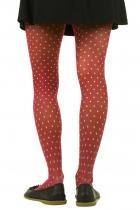 Collants rouge coquelicot, collant fantaisie haut de gamme Lili Gambettes