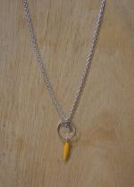 Collier court perle jaune Elmalao