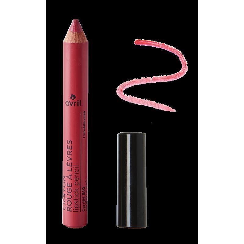 Crayon rouge à lèvres Camélia Rose Certifié bio  Avril cosmétique