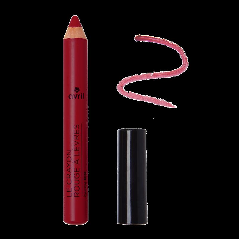 Crayon rouge à lèvres Châtaigne bordeaux Certifié bio  Avril cosmétique