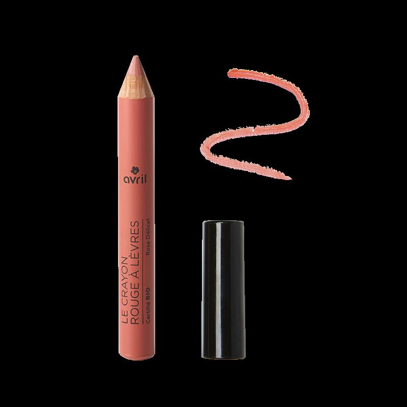 Crayon rouge à lèvres Rose Délicat Certifié bio  Avril cosmétique