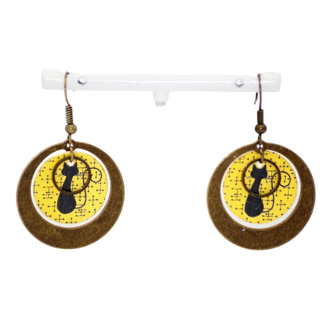 Creole Earrings cat, Be Chic Jewellery