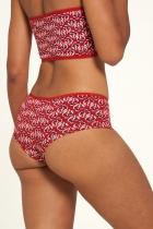 Culotte coton Bio imprimée rouge Tranquillo en jersey