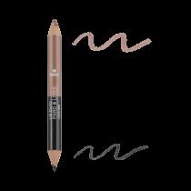 Duo fard & liner Noir charbon/Taupe nacré  Avril cosmétique