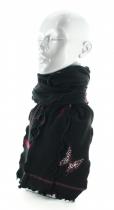 Echarpe femme noire à papillons Berthe aux grands pieds