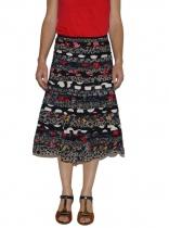 ethnic black skirt Patch Kali Yog