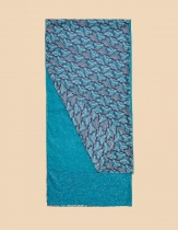 Étole en coton La Fiancée du Mékong, Nilona bleue