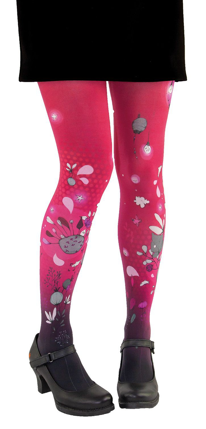 fancy woman tights Lili Gambettes red World