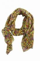 foulard-soie-carré-pop imprimée-lili-gambettes-