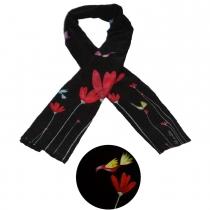 Foulard en soie Fleur Rouge Liligambettes