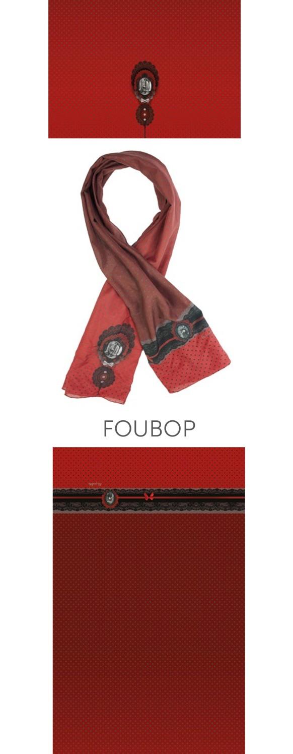 Foulard rouge vintage original Lili Gambettes