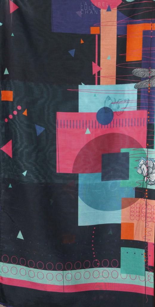 Foulard soie multicolore Lili Gambettes