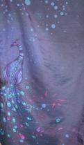 Foulard soie Paon violet Lili Gambettes