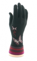 Gants femme noir à papillons Berthe aux grands pieds